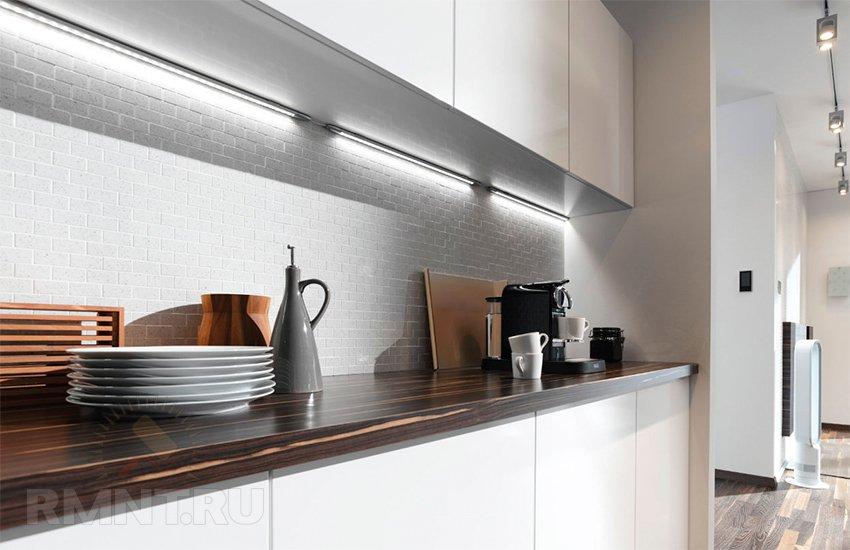 Куда повесить светодиодную ленту для подсветки на кухне