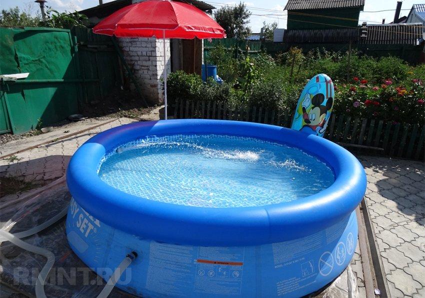Чем отмыть бассейн до кристальной чистоты || Как почистить надувной бассейн