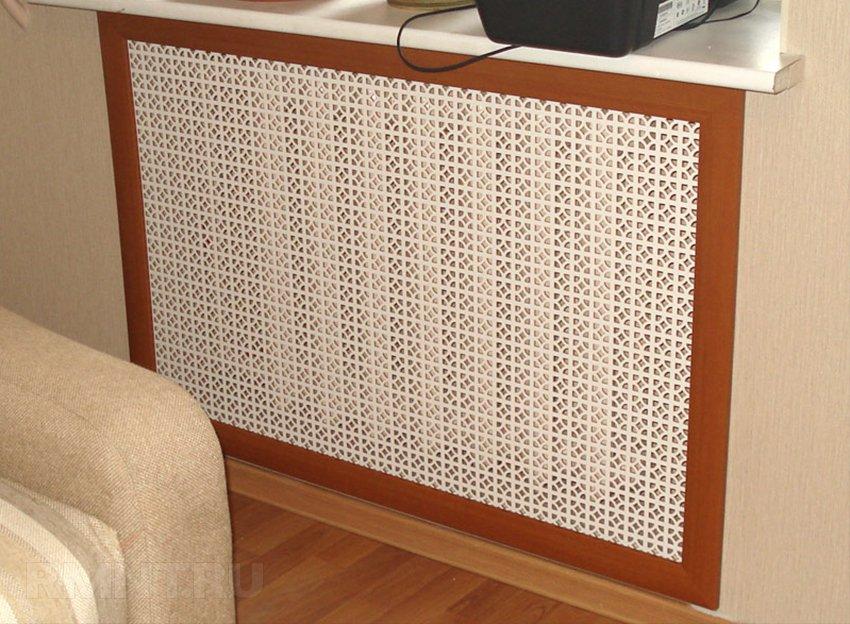 Экран для радиатора в нише