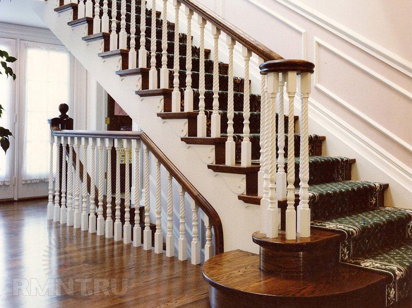 Деревянная лестница в доме. 20 фото-идей