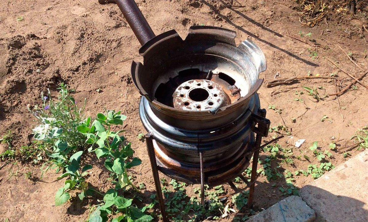 Как сделать печь для мангала и казана 243