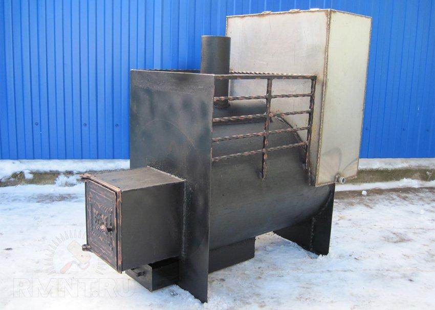 Печь из металла для бани своими руками