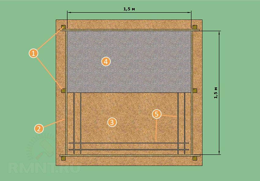 Основа кессона из бетона