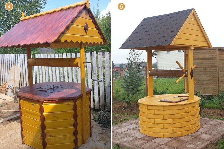 Фото дизайна домика для колодца