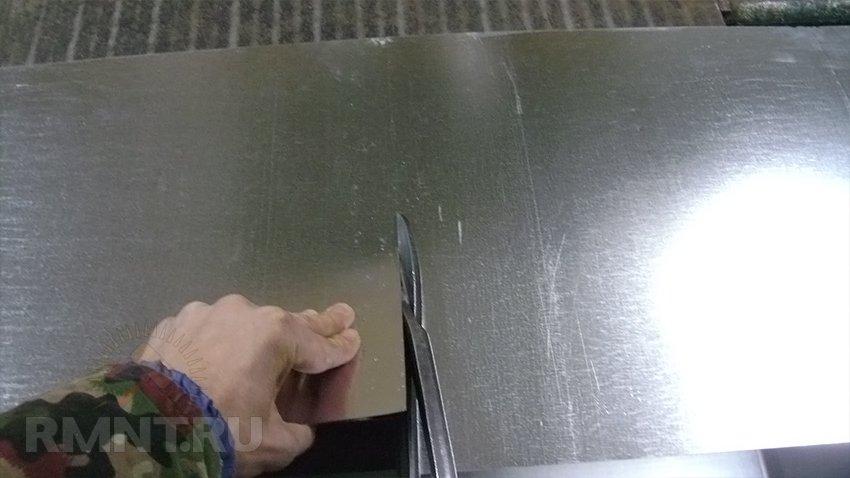 Как самостоятельно сделать трубы из листа оцинковки