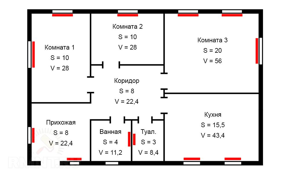Самостоятельный расчёт индивидуальной системы отопления