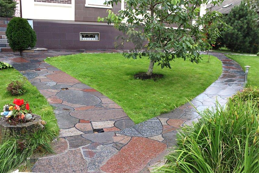 Садовые дорожки из натурального камня своими руками