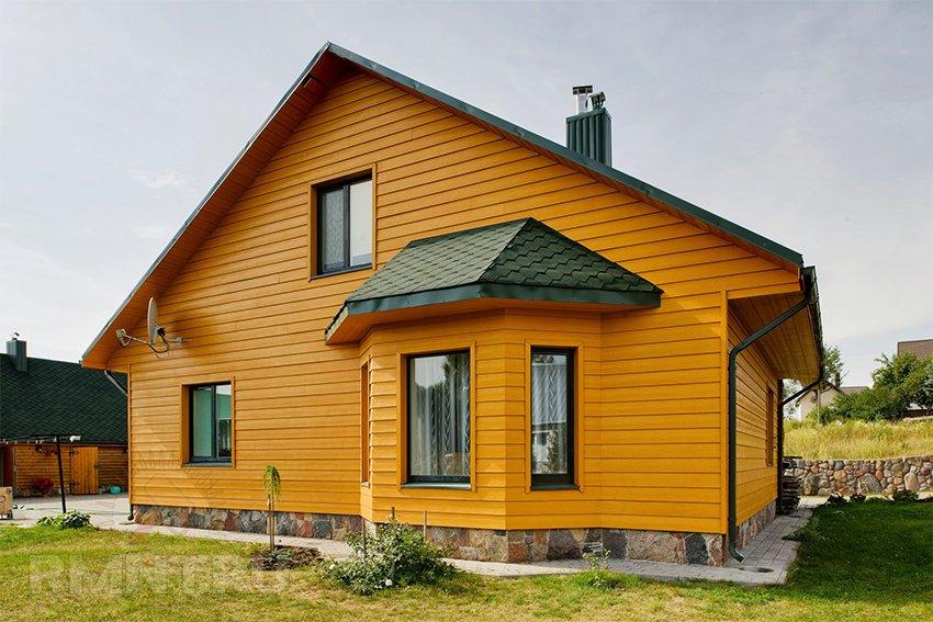 Вентилируемый фасад: фиброцементный сайдинг