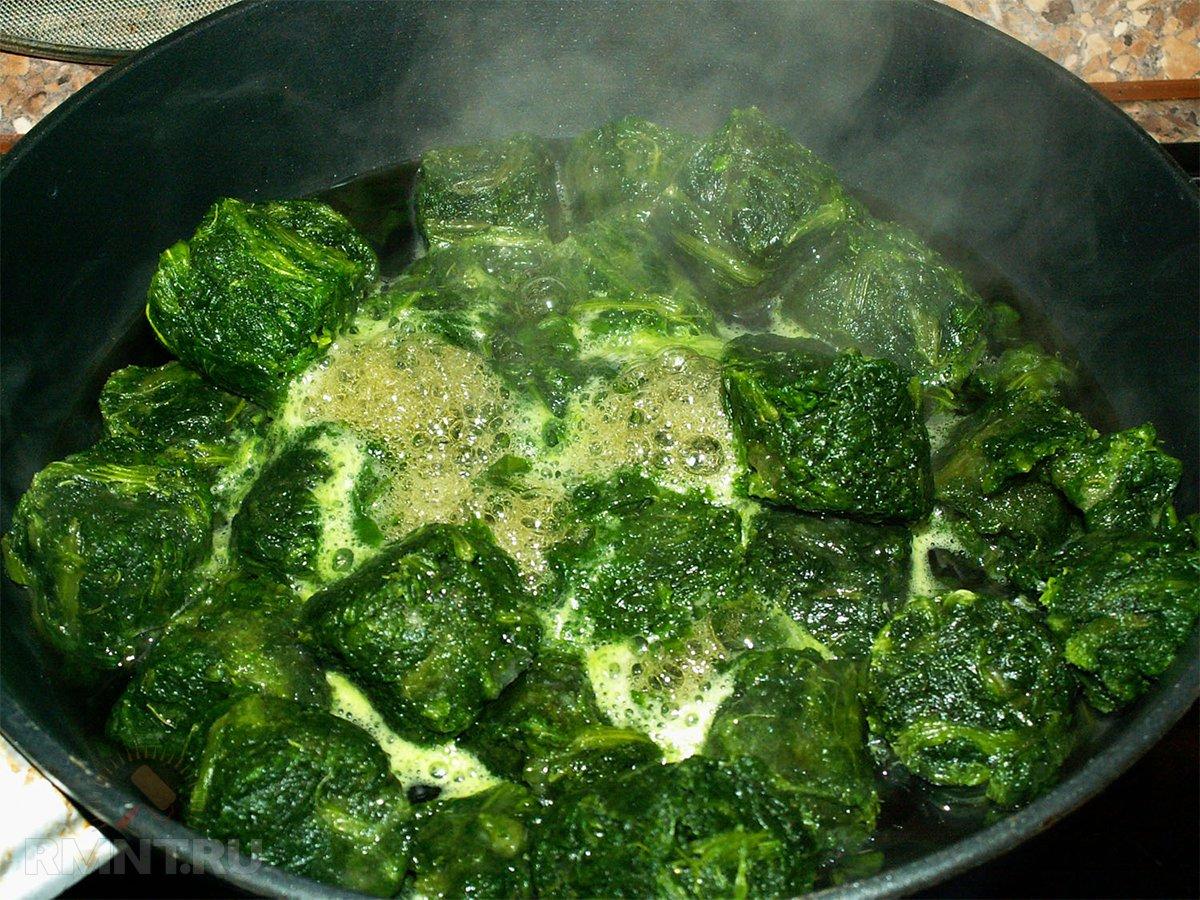блюда из шпината замороженного рецепты с фото указанная территория была