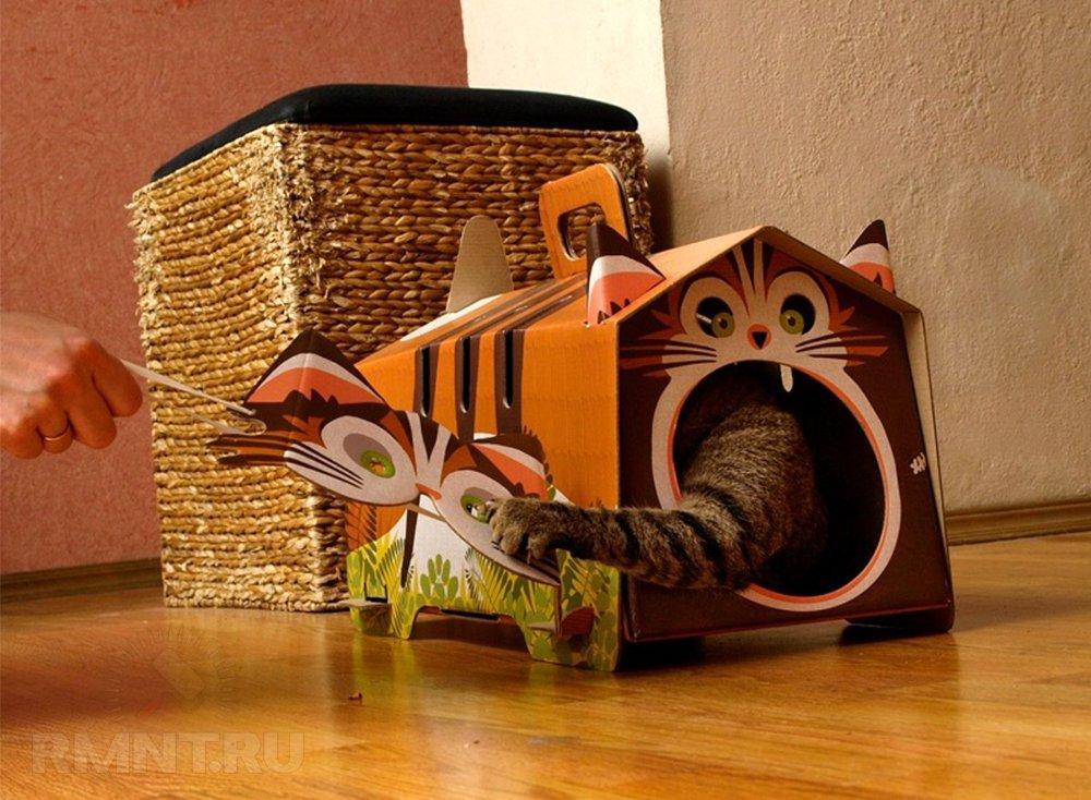 котенка руками домик для картонный своими