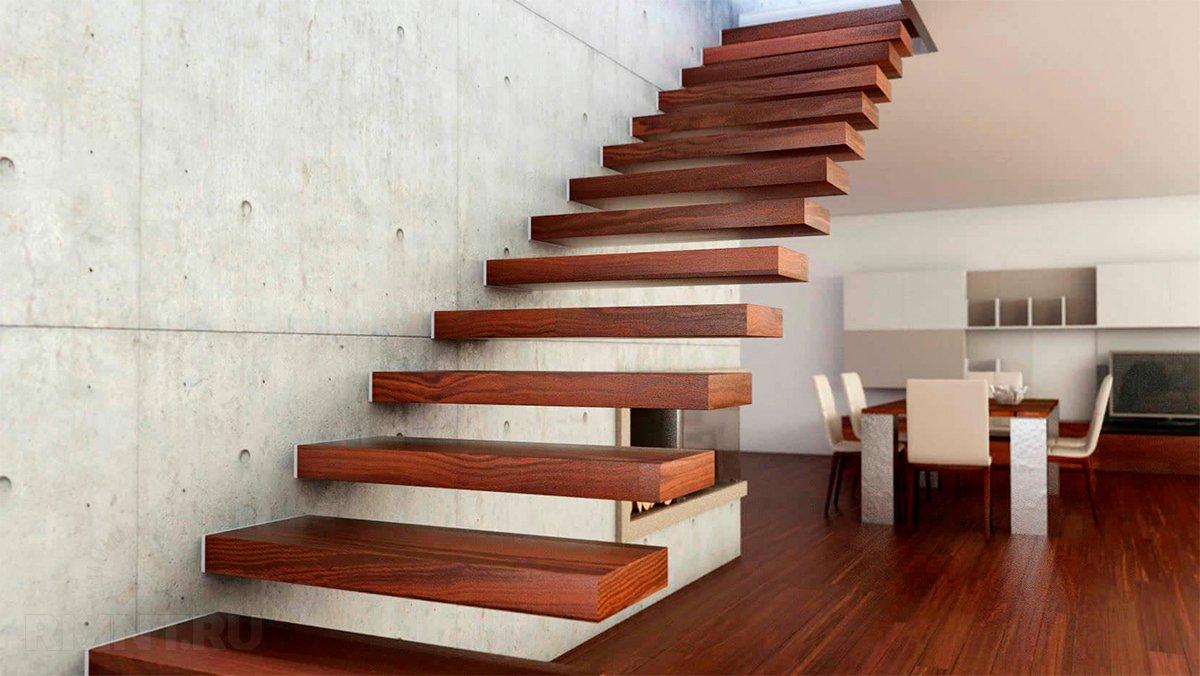 Лестница винтерьере— креатив функциональности непомеха