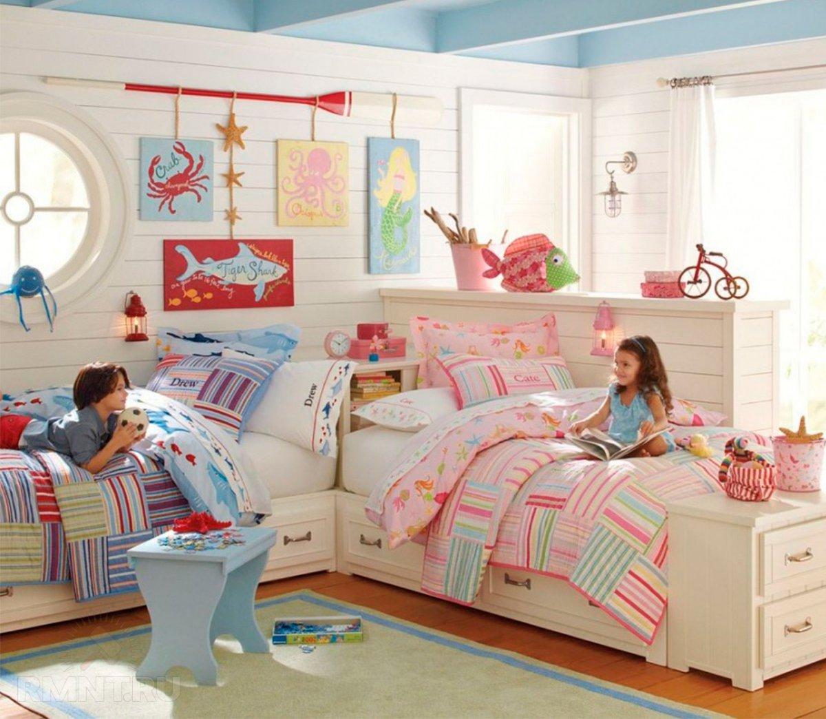 Детская комната для двоих: примеры и особенности