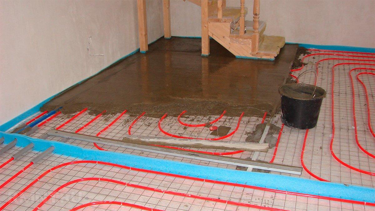 Теплый водяной пол под кухней своими руками
