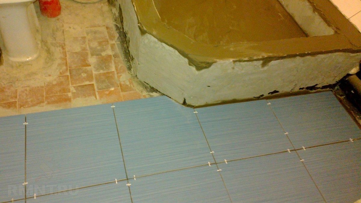 Как сделать душевую кабину из плитки и стеклоблоков
