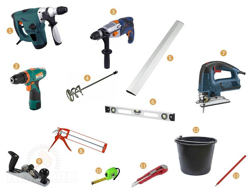 Инструменты для утепления пола