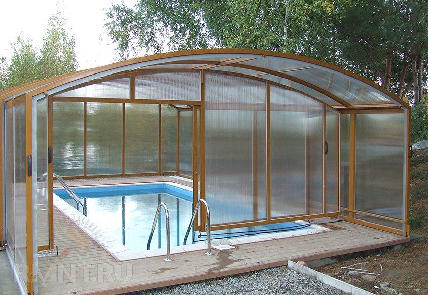 Крыша для бассейна своими руками