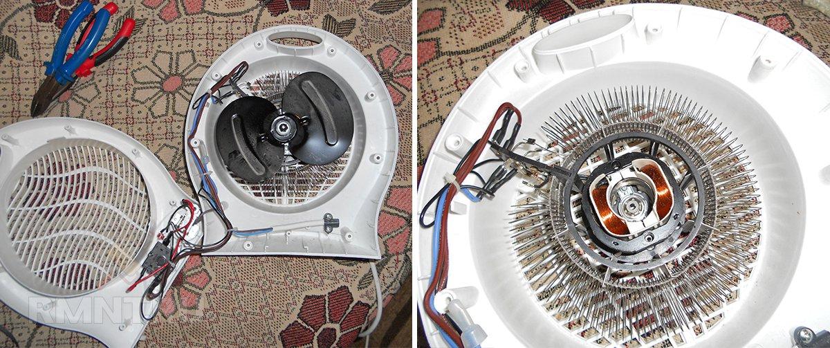 Тепловентилятор с нихромовой спиралью