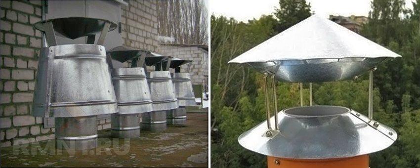 Дефлекторы для вентиляции и дымохода. Инструкция по сборке своими руками