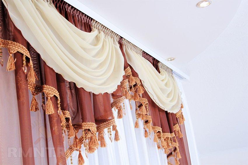 Современные идеи декорирования штор: советы и фото