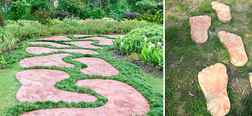 Садовые дорожки своими руками с малыми затратами картинки