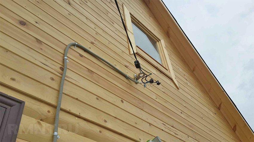 Ввод сип в деревянный дом