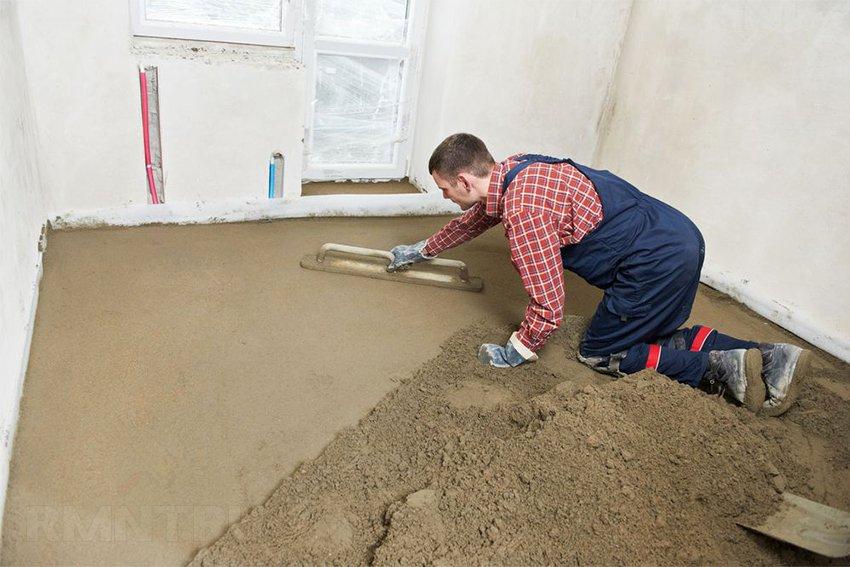 Как сделать полы по грунту в частном доме своими руками