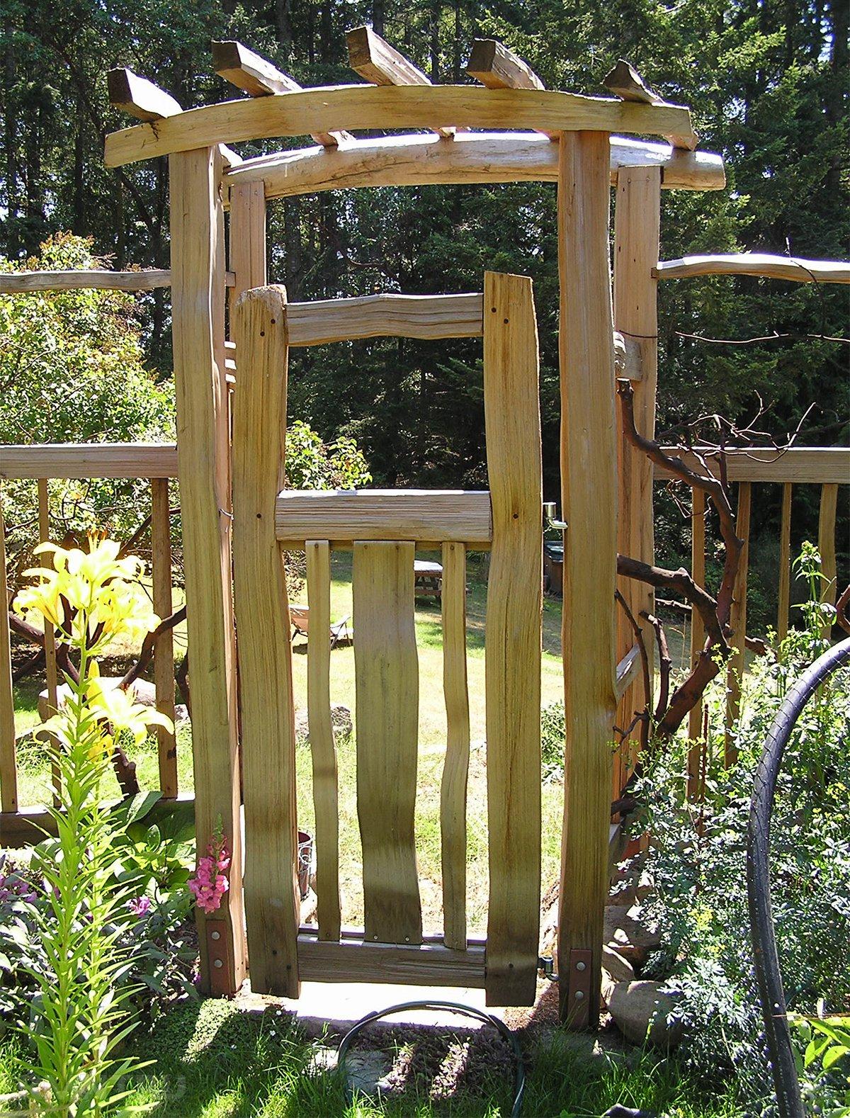 Ворота и калитки для дачи фото своими руками 89