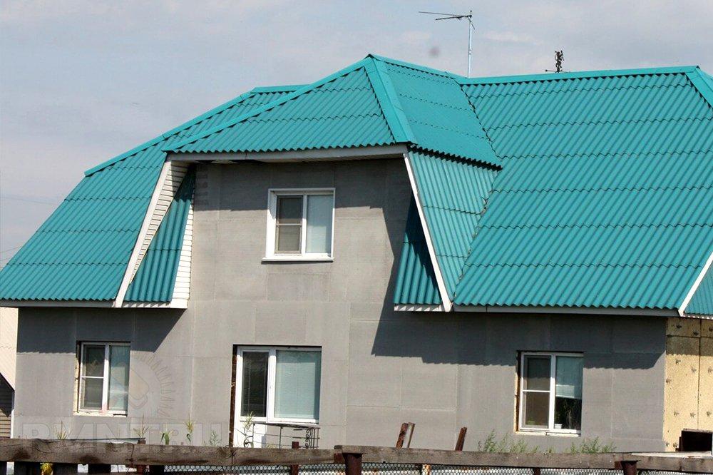 шиферная крыша фото