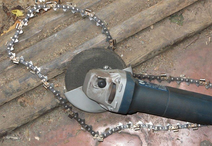 Как заточить цепь для бензопилы