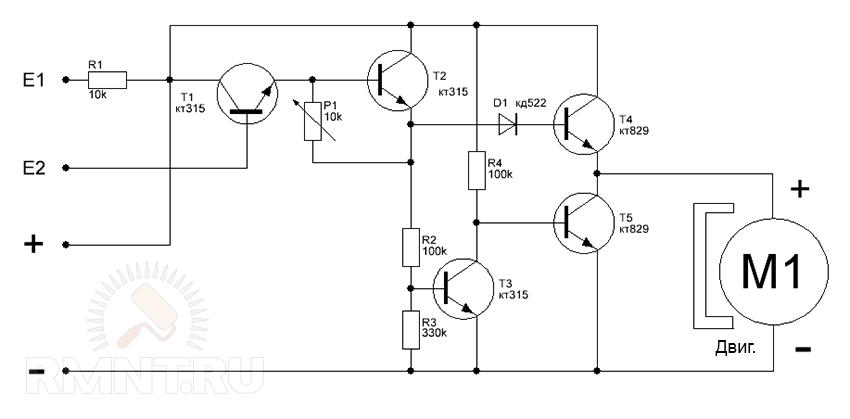 Схема управления электродвигателем