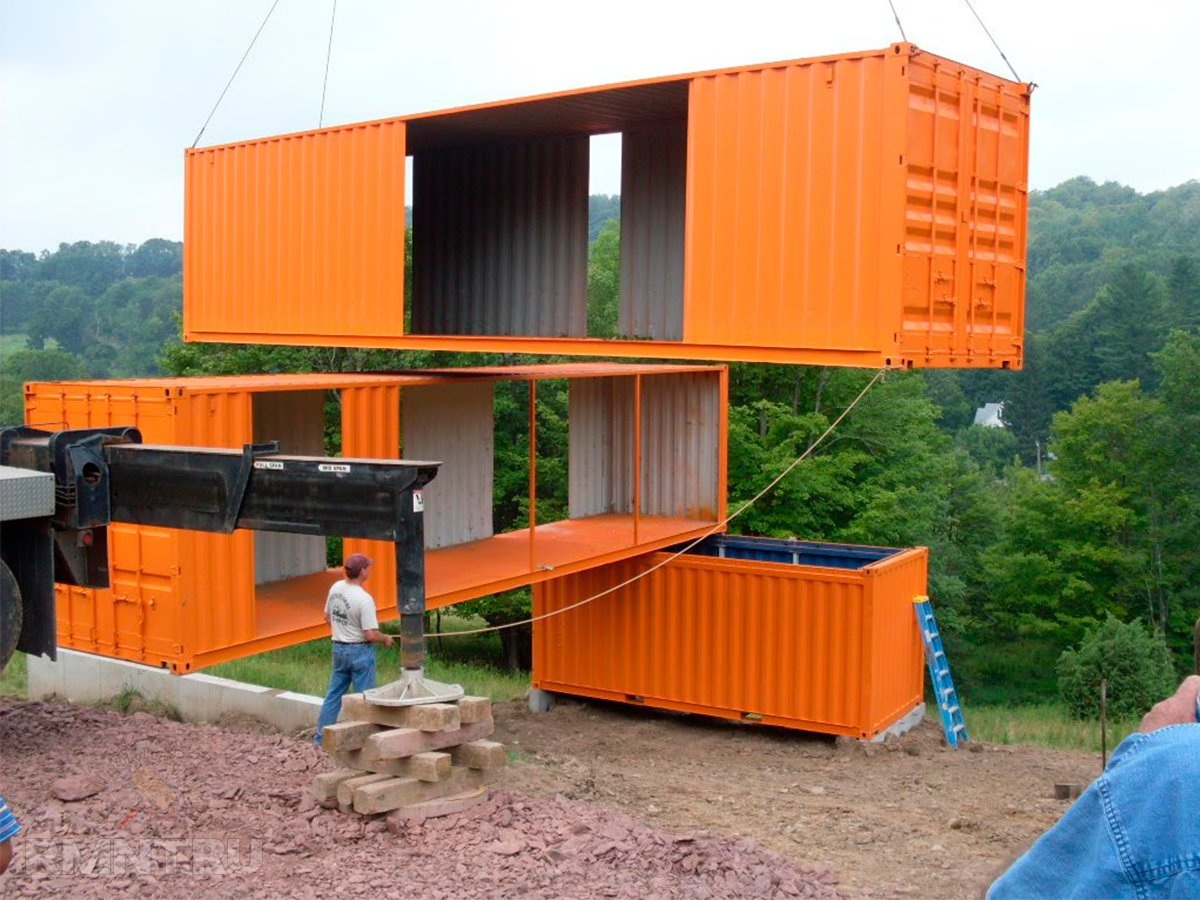 Дом из морских контейнеров своими руками