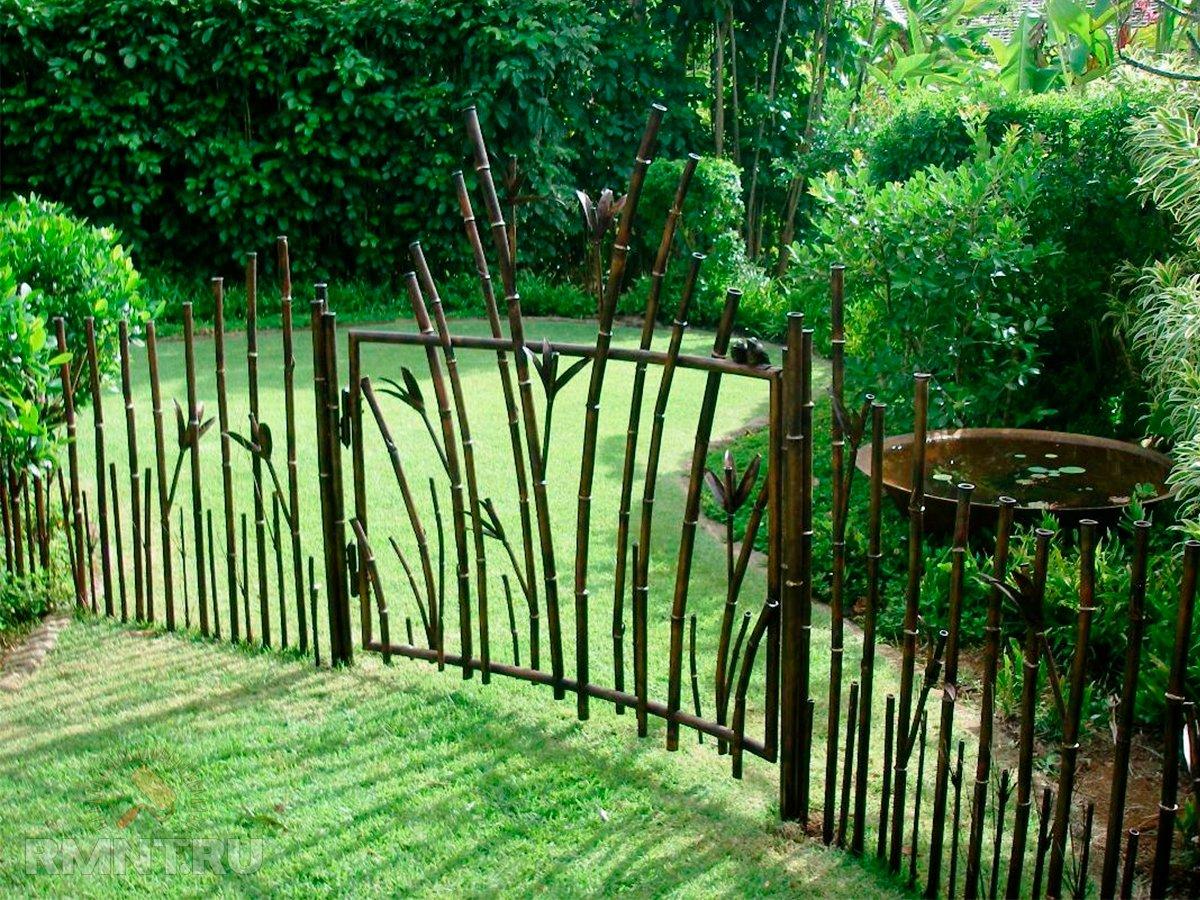 образом забор с изогнутым участком фото где