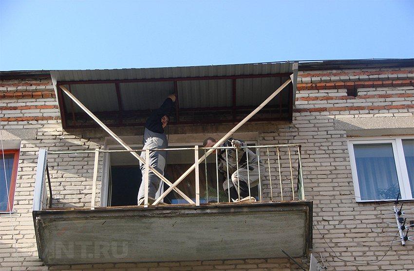 Строительство, расчет и установка балкона