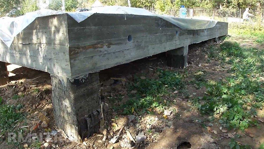 Столбчато-ленточный фундамент на склоне
