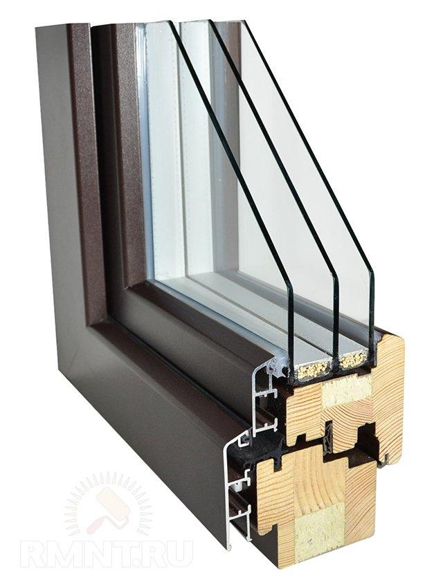 Деревянно-алюминиевое окно