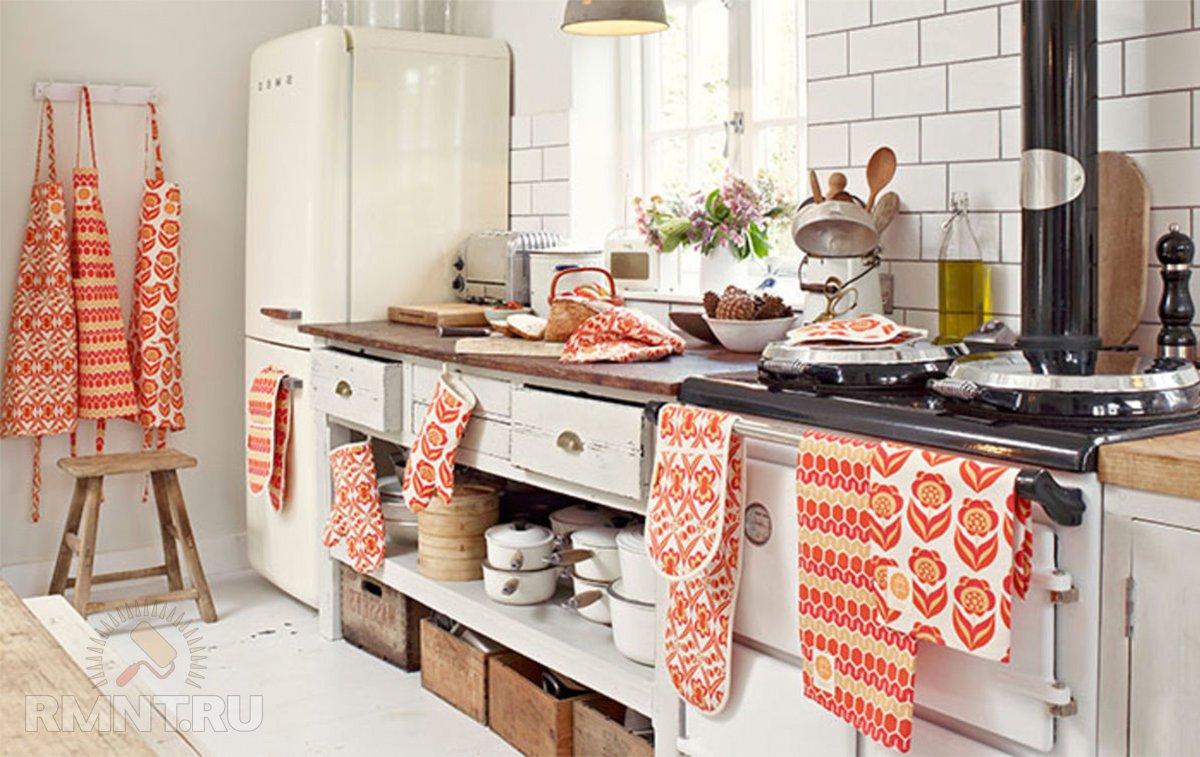 Выбираем текстиль для кухни: варианты и примеры