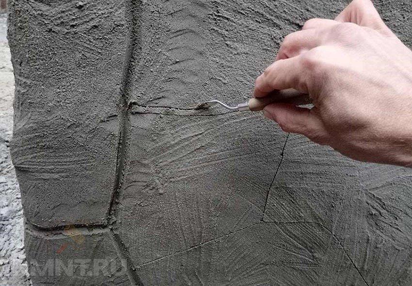 Имитация камень своими руками 46
