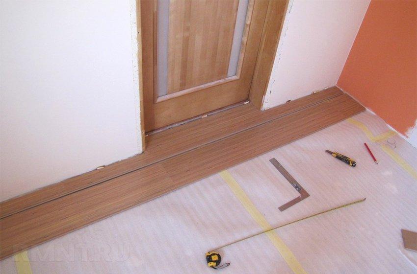 Ламинат своими руками на деревянный пол 127