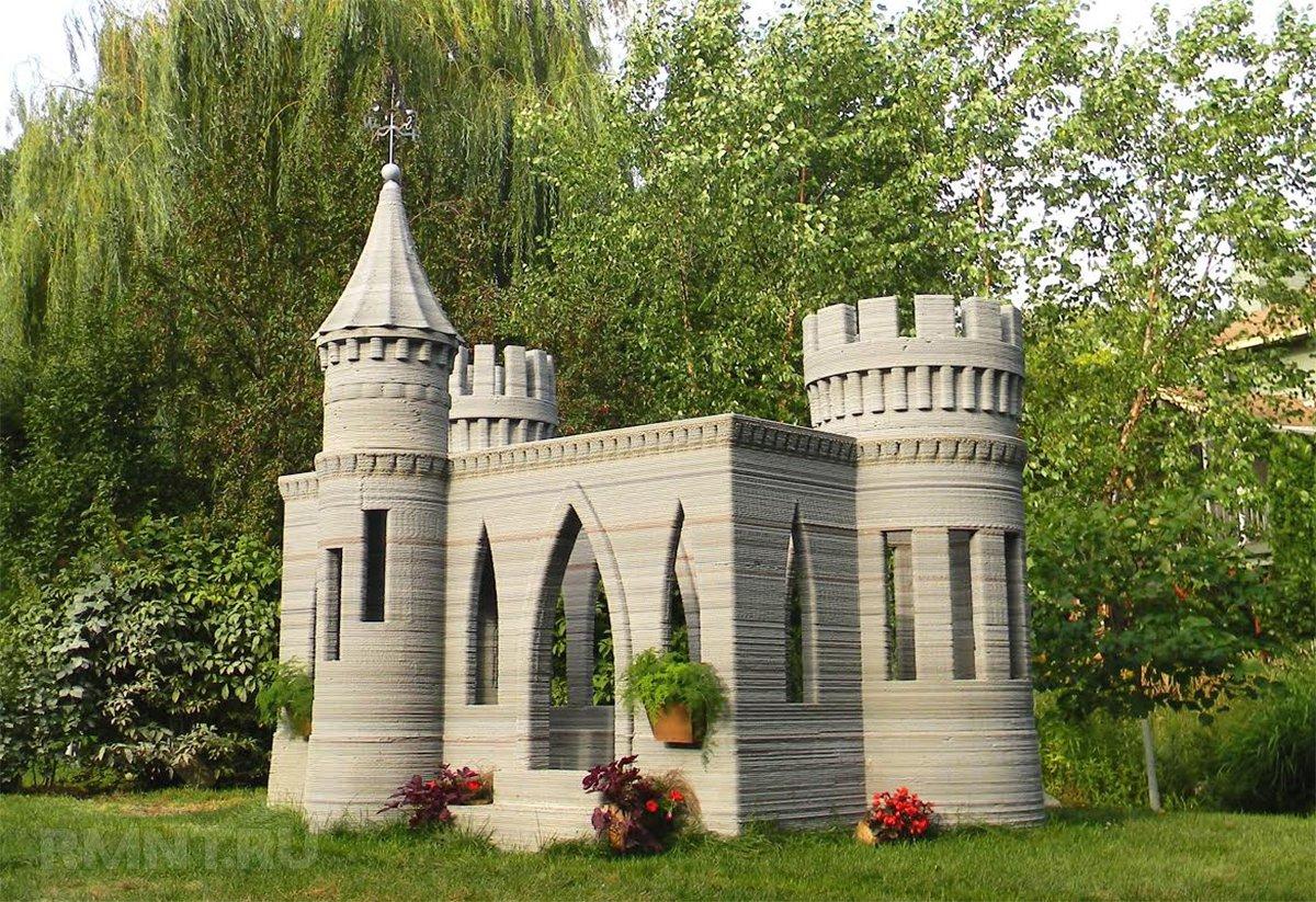 Модель средневекового замка на 3d-принтере