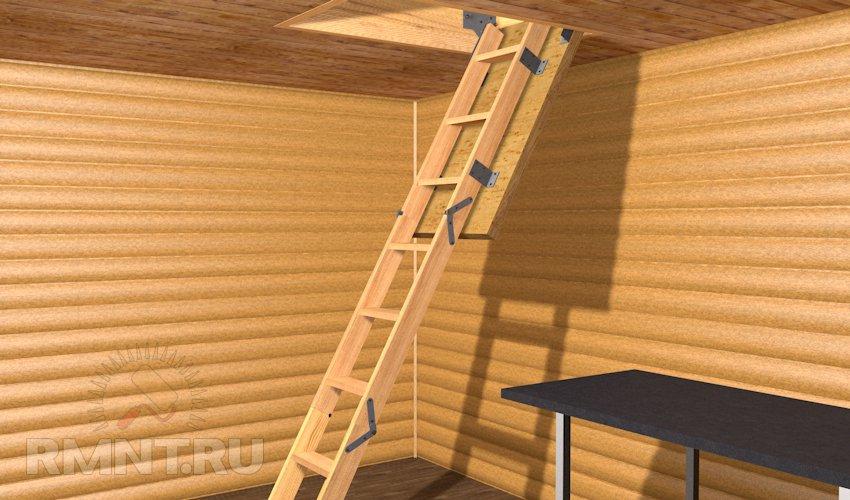 Приставная лестница своими руками
