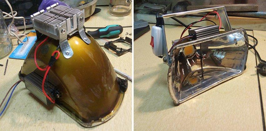Светодиодный прожектор из фары