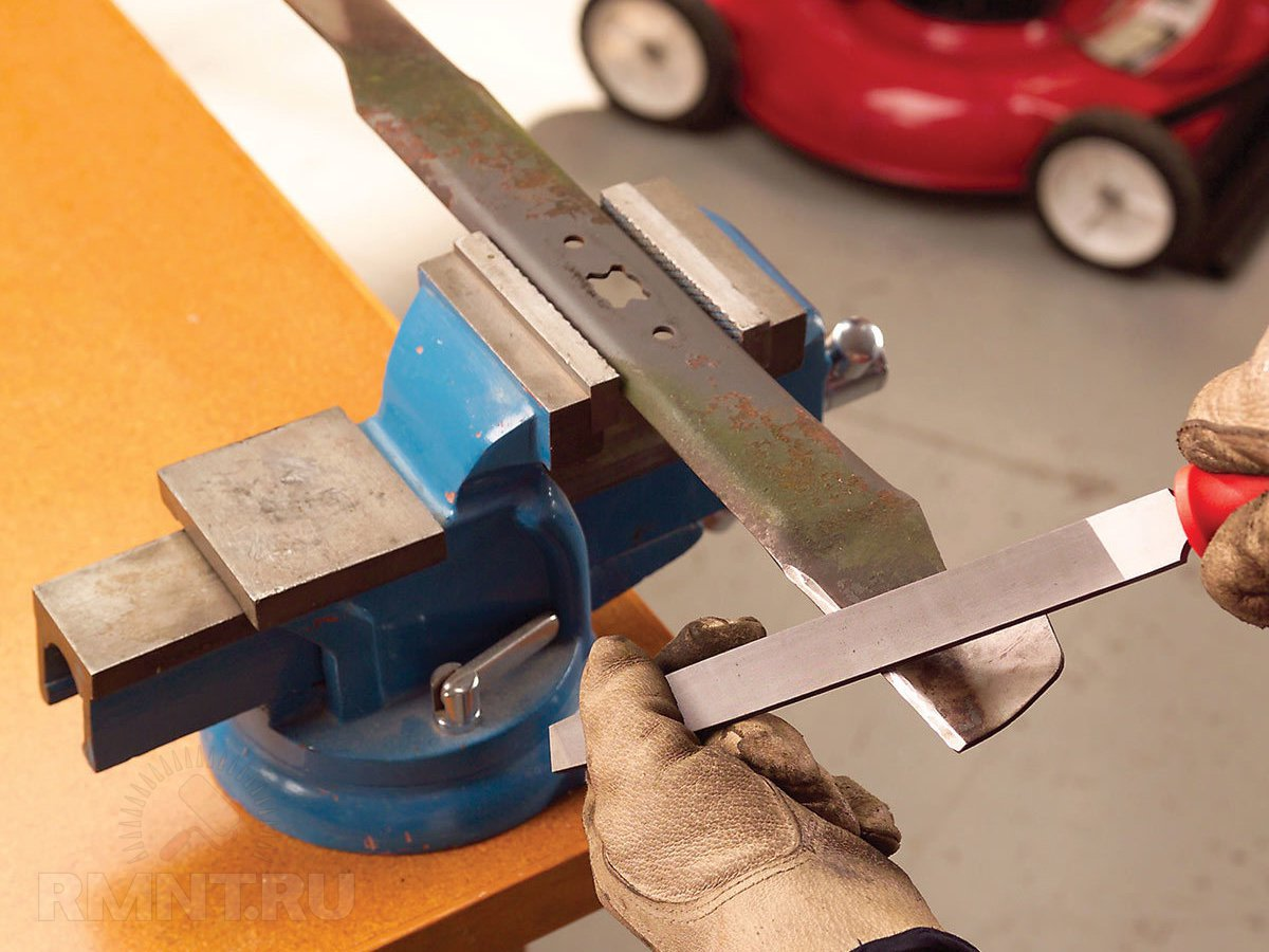 Правильная заточка ножа газонокосилки своими руками
