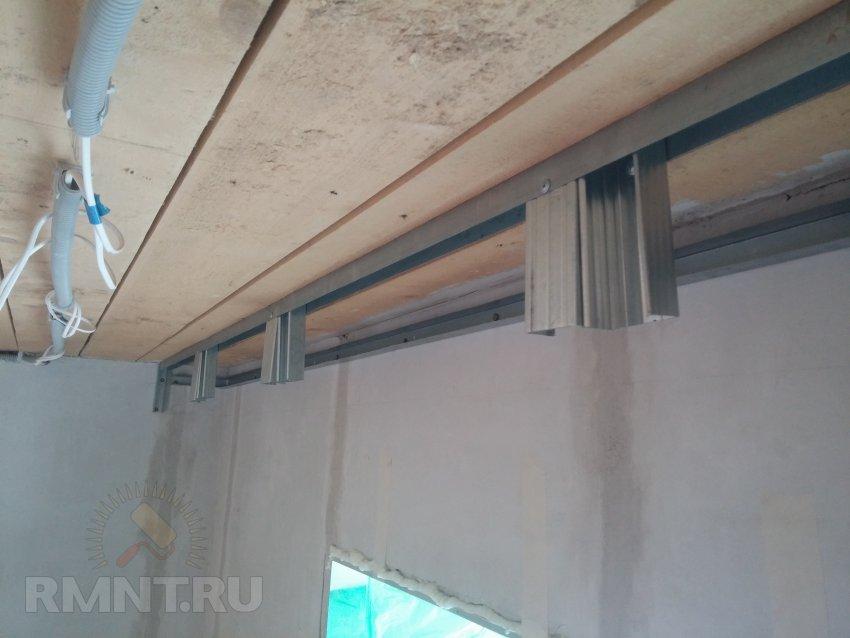 Ниша для штор потолок своими руками 93