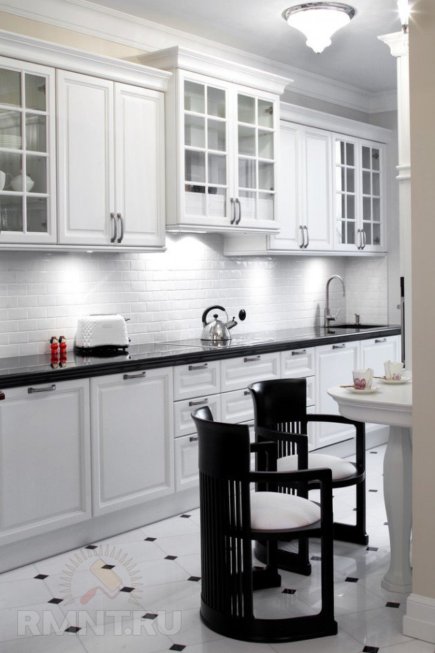 Черно белая кухня 20 фотоидей Rmnt Ru