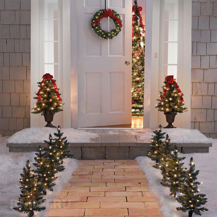 Идеи новогоднего украшения участка