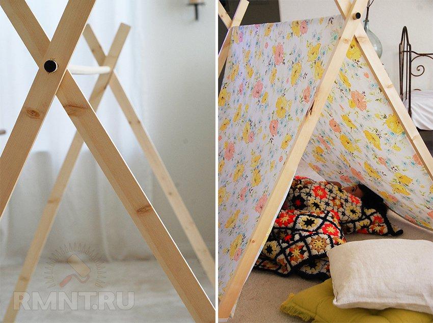 Домик палатка для ребенка своими руками