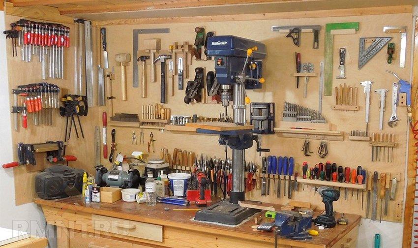 Размещение инструмента в мастерской своими руками 75