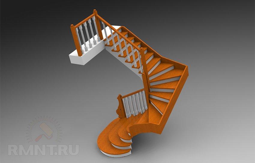 3D проект лестницы