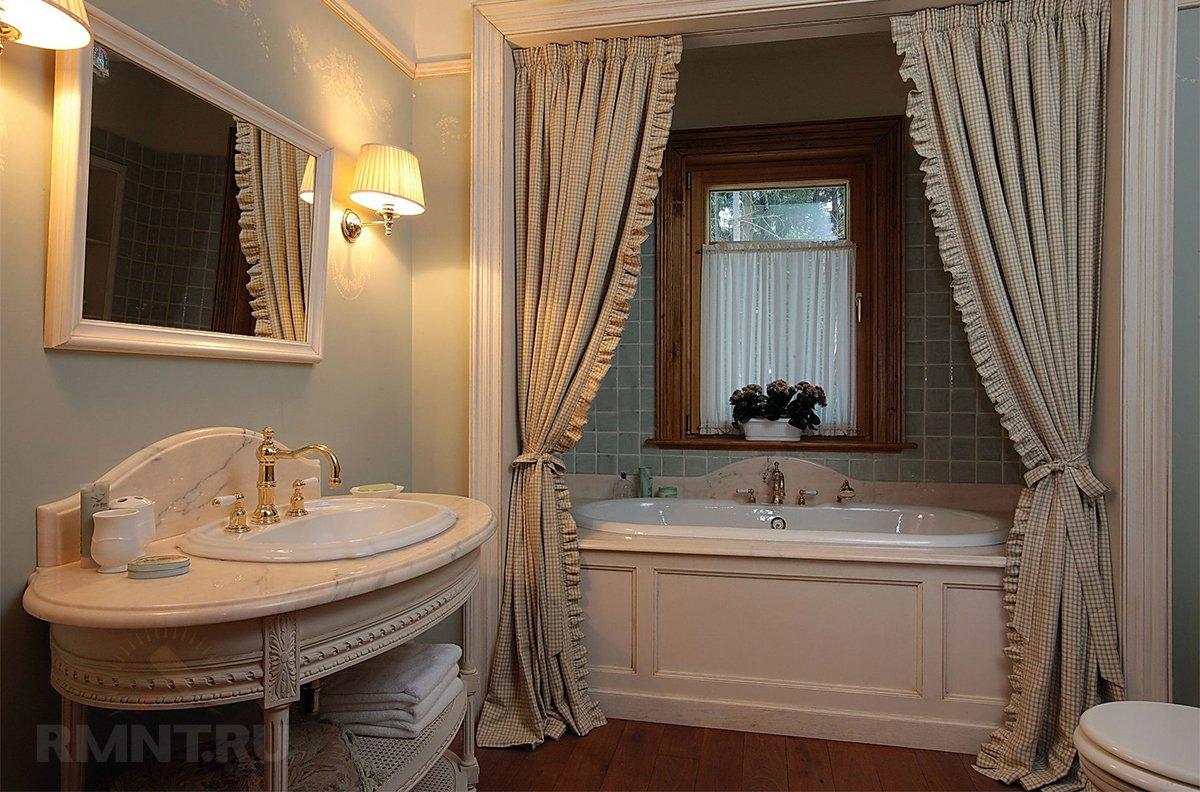 Тканевая штора для, как все знают, ванной комноты
