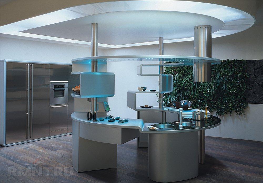 Высокие технологии дизайна интерьера — хай-тек